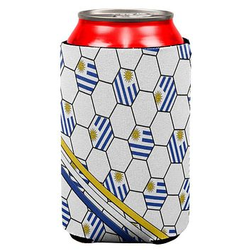 World Cup Uruguay Soccer Ball All Over Can Cooler