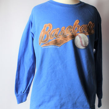 Boys Baseball Long Sleeve Top, size Medium