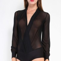 A Mesh Affair Bodysuit | MakeMeChic.com