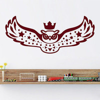 Owl Wall Decals Bird Decal Kids Nursery Room Vinyl Sticker Decor Mural Art MR407