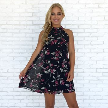 One Desire Floral Shift Dress