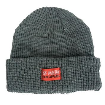 SF Made Knitted Beanie in charcoal