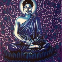 Buddha Tapestry Blue Single