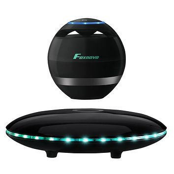 Swagger Dynasty FOXNOVO Levitating Bluetooth Speaker Wireless Floating Multicolored LED 360  Rotating