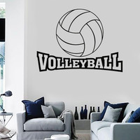Wall Stickers Vinyl Volleyball Word Game Ball Sport Living Room (z1644)