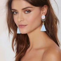 Suzywan Deluxe Eclipse Silk Tassel Earrings