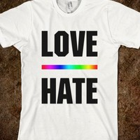 Love Over Hate LGBT Shirts