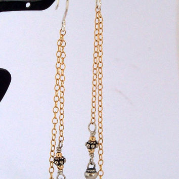Imogen - Gold Filled And Bali Sterling Silver Mixed Metal earrings SRAJD