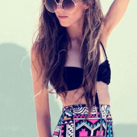 Retro Printing High Waist Bikini