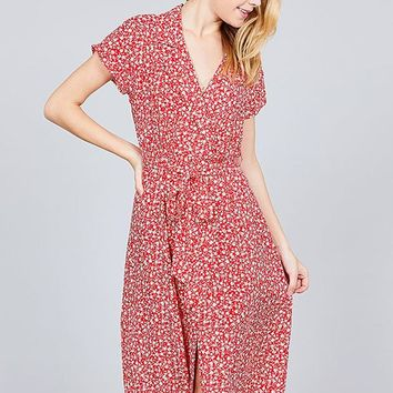 I'll Be Seeing You Midi Dress - Ruby