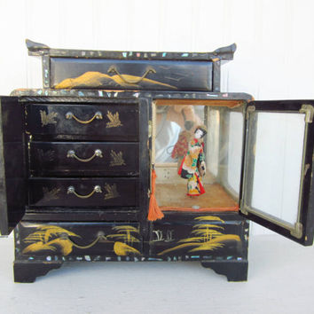 Shop Black Lacquer Jewelry Box On on Wanelo
