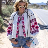 Saskatoon Boho Jacket in White