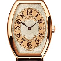 Patek Philippe Gondolo Men's Rose Gold Watch Brown Leather Strap