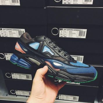 Raf Simons x Adidas Consortium Ozweego Black Dbrown Drkgrn 2018 Women Men Casual Running Sport Shoes Sneakers