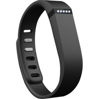 Fitbit - Flex Wireless Activity Tracker + Sleep Wristband (Large/Small) - Black