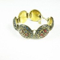 Meenakari Bracelet Bollywood Designer Indian Jewelry Gold Rajasthani Wrist Bangle