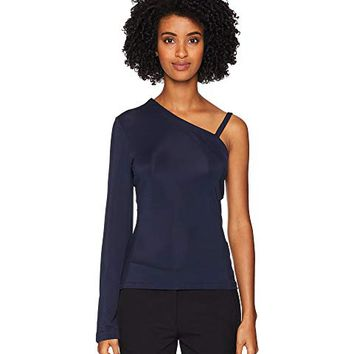 YIGAL AZROUËL One Shoulder Matte Jersey Top