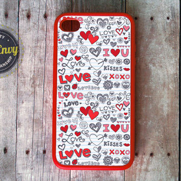 Red Love Doodles Valentine's Day Case iPhone 5 / 5s case