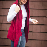 Little Maroon Riding Hood Vest | Pretty Edgy