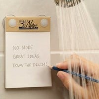 Waterproof Notepad for Writing Down Ideas While in the Shower [Video]