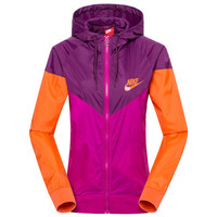"""NIKE""Fashion Hooded Zipper Cardigan Sweatshirt Jacket Coat Windbreaker Sportswear Roses-orange"