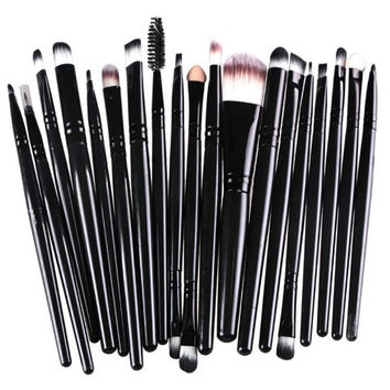 New arrival 20 Pcs 16 Color Professional Soft Cosmetics Beauty Make up Brushes Set Kabuki Kit Tools maquiagem Makeup Brushes