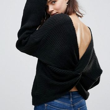 ASOS TALL Chunky Sweater Twist Back at asos.com