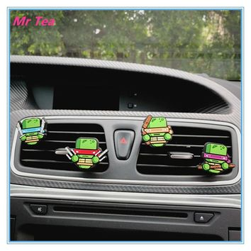 MR TEA Cute Cartoon Avengers Car Freshener Parfume Air Vent Clip air freshener Outlet perfumes Auto Air Condition