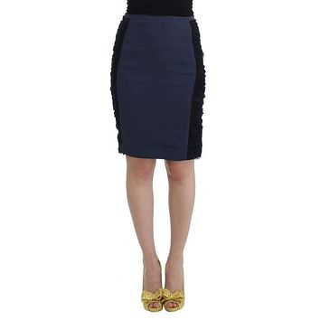 Cavalli Blue Pencil Skirt