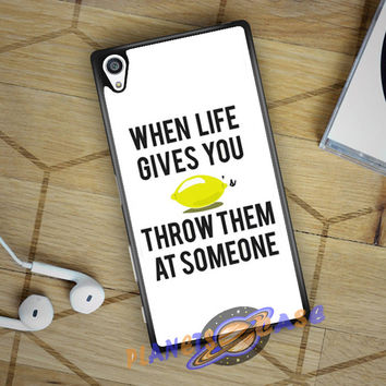 When Life Gives You Lemons Sony Xperia Z5 case Planetscase.com
