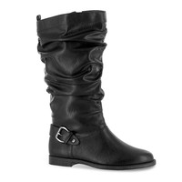 Easy Street Vigor Plus Women's Wide Calf Slouch Riding Boots (Black)