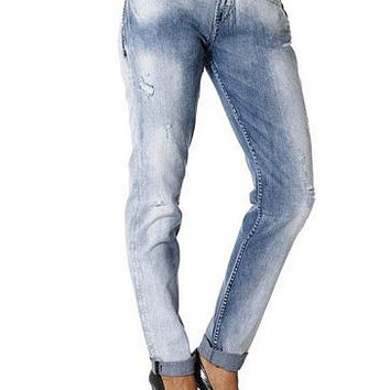 Silver Jeans Denim Womens Boyfriend Marbled Light Was
