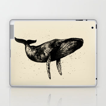Humpback Whale Ink Laptop & iPad Skin by Cedric S Touati