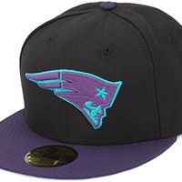 New Era New England Patriots Aqua 8 Hookup Fitted Cap, 7 1/4