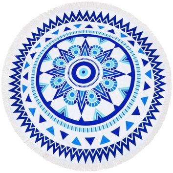 Doily Pattern Round Beach Towel Mat General Merchandise 191