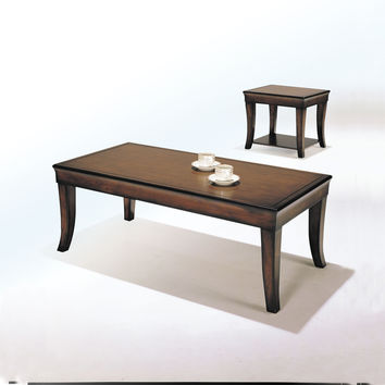 Acme Camarillo 3Pc Pack Coffee/End Table Set, Cherry