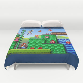 Super Mario 2 Duvet Cover by Likelikes