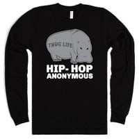 Hip Hop Anonymous-Unisex Black T-Shirt