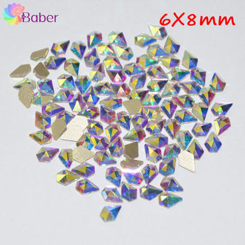 New Fashion Christmas 3D Nail Art Decorations For Home Gem Glitter Nails Rhinestones Manicure Crystal Horse Eyes Heart AB Color