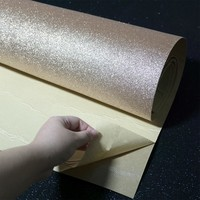 Self Adhesive Glitter Wallpaper Rolls For Walls Peel and Stick Roll Decor Craft Fabric Contact Paper Wedding