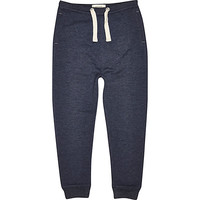 River Island Boys dark blue tapered joggers