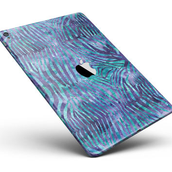 "Blue and Purple Watercolor Zebra Pattern Full Body Skin for the iPad Pro (12.9"" or 9.7"" available)"