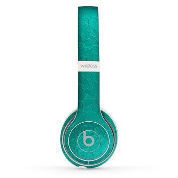 The Teal Stamped Texture Skin Set for the Beats by Dre Solo 2 Wireless Headphones