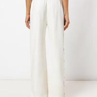 Zimmermann Side-button Palazzo Pants - Farfetch