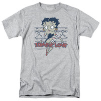 BETTY BOOP/ZOMBIE PINUP-S/S ADULT 18/1-ATHLETIC HEATHER