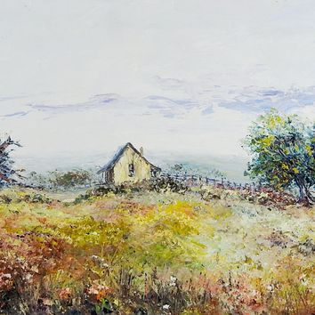 Texas Hill Country Homestead Painting