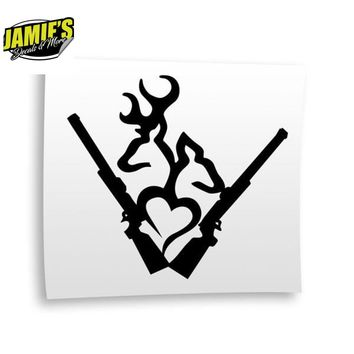 Deer Doe Heart Decal - Four Sizes - Color Options