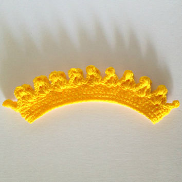 Crown, princess crown, crochet crown, kids costume, kids crown, yellow crown, childrens crown, prince costume, prince crown, crown headband