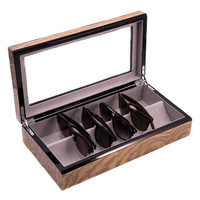 Bey-Berk Eyeglass Case - Brown