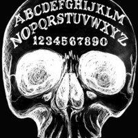 Ouija Skull archival print 8x10 stretched giclee canvas